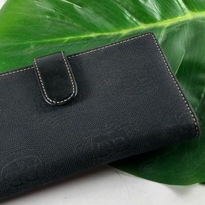 Dooney & Bourke Black Signature Bi Fold Wallet